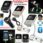 Wireless Bluetooth Mobile Handsfree + FM Radio Transmitter TF USB SD MP3 Player