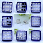 more Hollow Ball Stud Earrings For Women Cute Wire Knit Round  6 pairs / lot