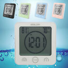 US Suction Cup Waterproof Digital Kitchen Bathroom Thermometer Shower Wall Clock