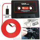 3.5mm Jack AUX Car Audio Tape Cassette MP3 Player For Mobile Phone iPod iPad Mp4