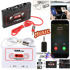 Universal Car Audio Tape Cassette To Audio AUX 3.5mm jack Fit MP3 iPhone iPod PC