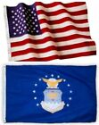 US Air Force and American Flag Combination, Made In USA, All Sizes, You Pick