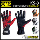 KK02743E OMP KS-3 KS3 KART GLOVES HIGH GRIP KARTING in ALL SIZES & COLOURS!