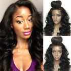 Silk Top Indian Human Hair Wig Wavy Pre Plucked Full Lace Wigs Black Women Black