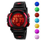 SKMEI Kids Boys Girls Waterproof Alarm Silicone Sport LED Di