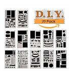 12/20pcs Bullet Journal Stencil Set Plastic Planner DIY Drawing Template Diary S