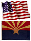 Arizona State and American Flag Combination, Made In USA, All Sizes, You Pick