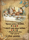 ALICE IN WONDERLAND: MAD HATTER'S TEA PARTY : METAL SIGN: 3 SIZES TO CHOOSE FROM