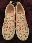 DISNEY Primark Beauty & The Beast Ladies Pink Canvas Pumps Trainers Shoes NEW