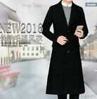 Mens Clothes Jacket Tuxedo Business Wool Blend Blazers Lapel Overcoat Full Long