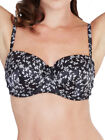 Lepel Floral Satin Lace Balconette Bra 440810 Underwired Balcony Padded