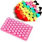 55 Sweet Hearts Silicone Chocolate Cookie Mould Baking N4U8