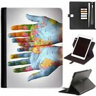 World Map Luxury Apple ipad 360 swivel i pad leather case cover with card slots