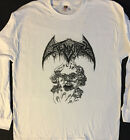 CREMATORY Long Sleeve T shirt 3 Faces White Death Metal Dismember Grave S -XL