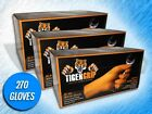 270 TIGER GRIP 7 MIL HEAVY DUTY ORANGE TEXTURED NITRILE GLOVES - (X-LARGE)