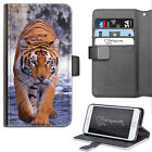 HAIRYWORM TIGER WATERFALL DELUXE LEATHER WALLET PHONE CASE, FLIP PHONE CASE