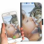 CAT KITTEN PET PERSONALISED CUSTOM DELUXE LEATHER PU MOBILE PHONE CASE ANY IMAGE
