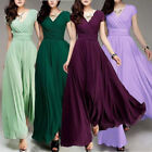 Women Formal Evening Prom Party Bridesmaid Ball Gown Cocktail Chiffon Long Dress