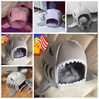 Lovely Soft Shark Mouth Shape Dog Supplies house Pet Bed Kennel with Cushion