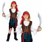 CHILDS GIRLS BOOK WEEK CARIBBEAN PIRATE CAPTAIN BUCCANEER FANCY DRESS COSTUME