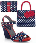Ruby Shoo Evie Thick Heel Sandals UK 3-9 & Matching Tortola Bag & Garda Purse