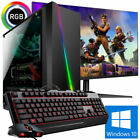 Gaming PC AMD FX 8300 8x 4.2 Ghz Geforce GTX 1050 Ti 4GB HDD SSD Windows 10 TFT