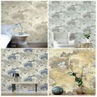 CROWN ARCHIVES ORIENTAL LANDSCAPE WALLPAPER BLUE YELLOW NATURAL FEATURE WALL NEW