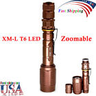 20000Lumen Zoomable 5modes T6 LED Flashlight Torch Lamp+Charger+18650battery US