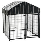 Lucky Dog Pet Resort Wire Dog Fence Kennel w/ Cover, (4'L x 4'W x 52