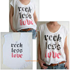 food for less job application - Junk Food RECK LESS LOVE Loose fits Light weight Scoop Tank Easy