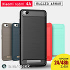 FUNDA TPU Gel para XIAOMI redmi 4A  slim shock tough armor carbon rugged case
