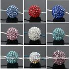 Multicolor Crystal Resin Disco Ball Hole Loose Beads Jewelry Finding DIY Pretty