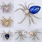 8 Colors Men Women Spider Crystal Rhinestone Brooch Pin Jewelry Gifts