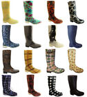 WOMENS GIRLS WELLIES SIZE 3 4 5 6 6.5 7 8 RAIN SNOW WINTER FESTIVAL WELLY BOOTS