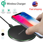 For Apple iPhone X 10 8 Plus + QI Wireless Fast Charger Charging Pad Mat Metal