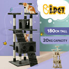 i.Pet Cat Scratching Tree Post Sisal Pole Condo Toy Furniture Multi level 180cm