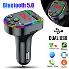Wireless In-Car Bluetoot FM Transmitter MP3 Radio Adapter Car Fast USB Charger