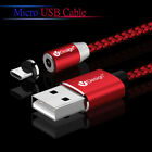 US Stock 360° Strong Braided USB Magnetic Cable Micro USB Charger Cable Wire Lot