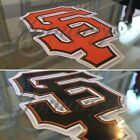 San Francisco Giants Black / Orange SF Logo Sticker Decal Vinyl MLB McCovey Cove on Ebay