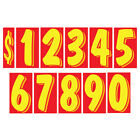 11 1/2 Inch Yellow & Red Numbers Windshield Pricing Sticker Car Dealer You Pick