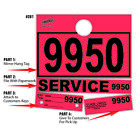 Red Service Department Hang Tags Window Tag 1000 Per Box