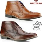 New Mens Real Leather Casual Walking Formal Brogue Desert Ankle Boots Shoes Size