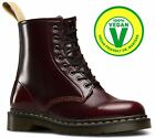 Dr Martens Mens Vegan Vegetarian 1460 Cherry Red Cambridge Brush Ankle Boots <br/> New for SS18 - Unisex Fit Vegan Cherry Boots