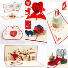 Внешний вид - 3D Wedding Greeting Card Birthday Handmade Blessing Hollow Postcard DIY Gift