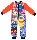 Pokemon All In One Sleepsuit Pyjama Night Wear Soft Micro Fleece 4-5 To 9-10Y