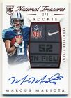 MARCUS MARIOTA 2015 NATIONAL TREASURES RC AUTOGRAPH NFL NIKE TAG PATCH AUTO #1/3