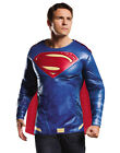 Adult Mens Muscle Chest Superman Dawn Of Justice Shirt Only