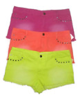 Dream Out Loud by Selena Gomez Bright Denim Shorts Studded 5 Pocket Pink Orange