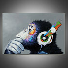 DJ Music Monkey Gorilla Art Canvas Oil Painting Picture Home Wall Decor Unframed