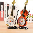 Modern Retro Violin Desk Clock Alarm Clock Stand Clock Home Room Decor